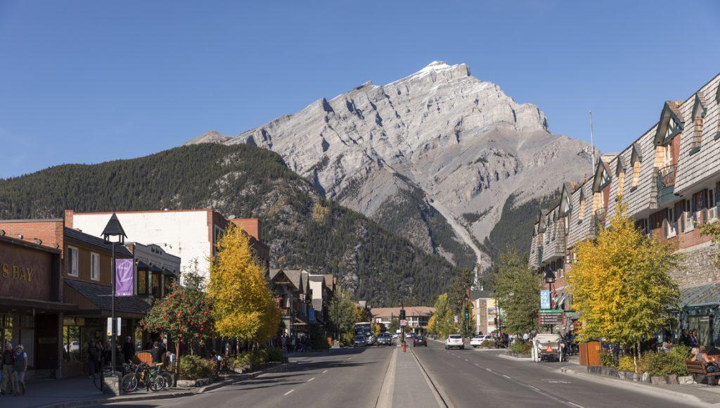 Beautiful downtown Banff
