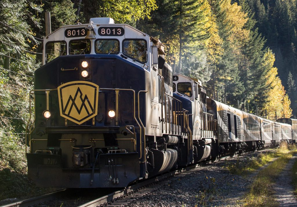 Front of the Rocky Mountaineer